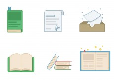 Free vector Book Icon Set #4180