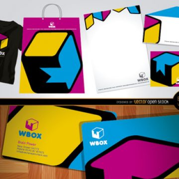 Free vector Branding WBox design for stationery and t-shirts #5302