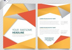 Free vector Brochure template with abstract polygons #9170