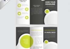 Free vector brochure with circles #6583