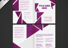 Free vector Business brochure with purple triangles #11851