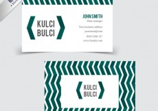 Free vector Business card with pattern in zig zag #6481