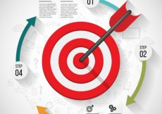 Free vector Business target infographic #7154