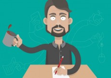 Free vector Businessman with multitasking #6335