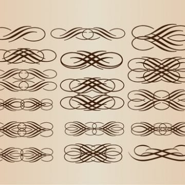 Free vector Calligraphic Elements Vector Set #5350