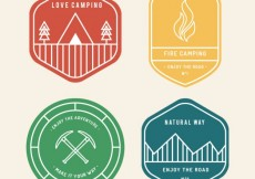 Free vector Camping badges collection #5786