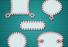 Free vector Candy cane frames #8349
