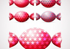 Free vector Candy with starry wrapper #6697