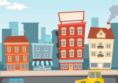 Free vector Cartoon city illustration #7238