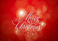 Free vector Christmas Calligraphy Red Background #5617