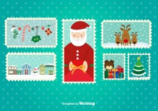 Free vector Christmas Postal Stamps #11061