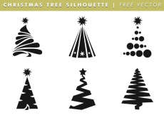 Free vector Christmas Tree Silhouettes Free Vector #6189