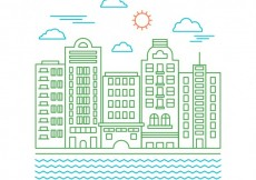 Free vector City buildings icons #5751
