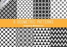Free vector Collection of black and white patterns #11296
