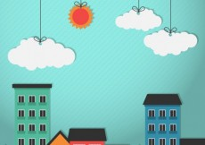 Free vector Colored city buildings #6071