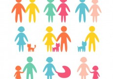 Free vector Colored family icons #5542