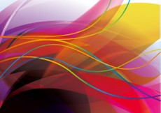 Free vector Colorful background vector flow lines #5997