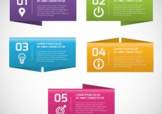 Free vector Colorful banners infographic #12137