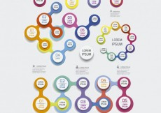 Free vector Colorful circles infographic #10020
