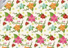 Free vector Colorful flowers pattern #6293