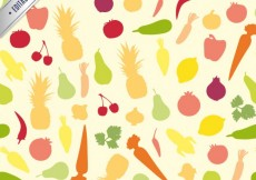 Free vector Colorful fruits pattern #6735