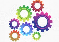 Free vector Colorful gears background #4228
