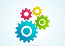 Free vector Colorful gears icons #8538