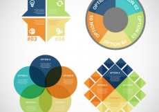 Free vector Colorful infographic collection #11857