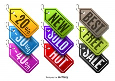 Free vector Colorful labels #10584