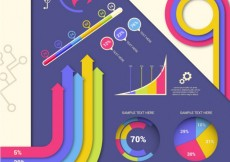 Free vector Colorful modern infographic #11735