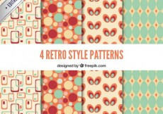 Free vector Colorful retro patterns #11835