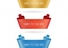 Free vector Colorful ribbon banners #6421