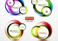 Free vector Colorful Ring Label 04 #9852