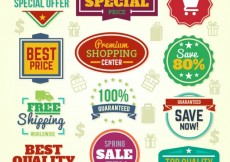 Free vector Colorful special offer banners #11192