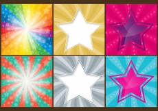 Free vector Colorful Stars Backgrounds #6382