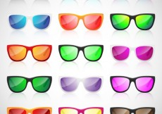 Free vector Colorful sunglasses collection #10042