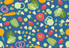 Free vector Colorful vegetables pattern #11506