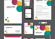 Free vector Corporate identity with colorful circles #12143