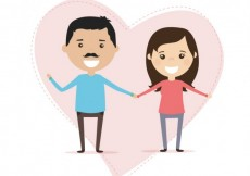 Free vector Couple in love illustration #6034