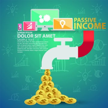 Free vector Creative passive income money background vector 02 #4963