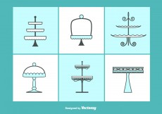 Free vector Cupcake Stand Vectors Set #6093