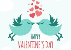 Free vector Cute card for valentines day #11500