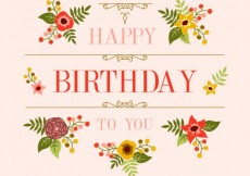 Free vector Cute floral card for birthday #9956