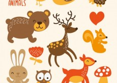 Free vector Cute forest animals #5667