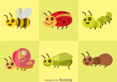 Free vector Cute Vector Insects #6491