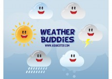 Free vector Cute Weather Vector Icons #8525