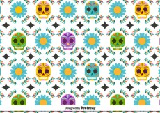 Free vector Day of the Deaths Pattern #11037