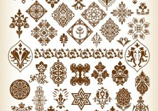 Free vector Decorative Pattern Elements Vector Collection #4657
