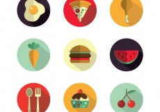 Free vector Delicious food icons #6739