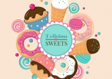 Free vector Delicious sweets #6943